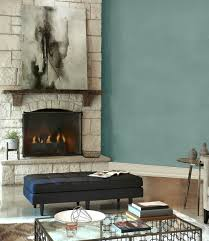 behr in the moment in a living room with stone fireplace photo