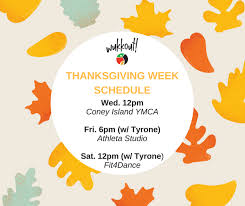 thanksgiving week schedule wukkout