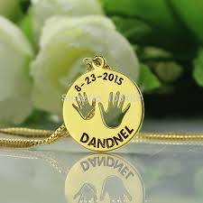 Baby Name Necklace Gold Personalized Children Jewelry Gold Color Name Necklace Lovely Baby