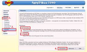 benutzeroberfläche fritz repeater fritzbox als repeater besseres wlan signal chip