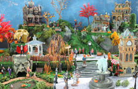 model halloween villages and miniature spooky towns christmas