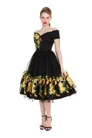 black dress company the pretty dress company fatale southern embroidered prom dress