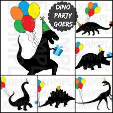 themed signs pdf set of 6 dinosaur party goers signs diy