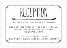 Wedding Reception Card 13 Best Wedding Reception Cards Images On Pinterest Wedding