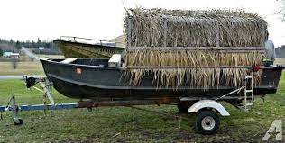 Boat Duck Blinds For Sale Boat With Homemade Duck Blind For Sale In Norwood New York