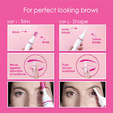 How To Trim Eyebrows Veet Sensitive Touch Electric Trimmer For Women Amazon In Health