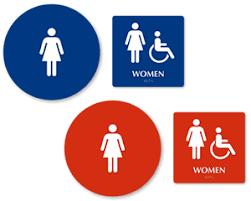 Mens And Womens Bathroom Signs Bathroom Sign Kit