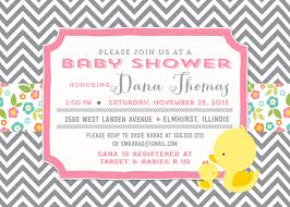 duckie baby shower invitation and personalized sign gray chevron