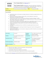Administrative Assistant Job Duties Resume by Sample Personal Description Resume
