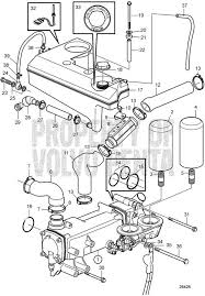 volvo penta exploded view schematic heat exchanger and expansion