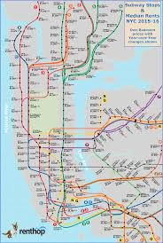 Metro North Harlem Line Map by Average Rental Price Map By Subway Stop Map Nyc