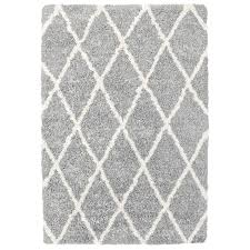 shop carpet art deco loft shag trellis gray indoor area rug