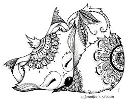 interesting fox coloring vintage coloring pages fox coloring