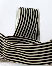 striped grosgrain ribbon black ivory striped grosgrain ribbon 1 5 wide by the yard