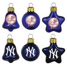 new york yankees royal blue navy blue 6 pack assorted glass