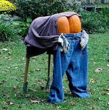 5 ways to have a green halloween straw bales scarecrows and