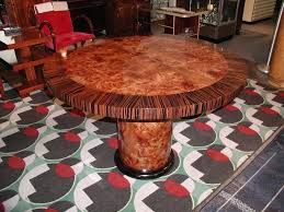 hand crafted carpathian elm burl with ebony round dining or game