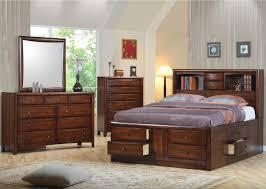 queen storage bed with bookcase headboard bedroom king trends