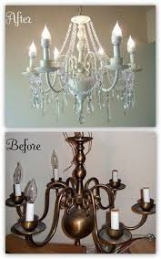 How To Make An Outdoor Chandelier Best 25 Chandelier Makeover Ideas On Pinterest Light Fixture
