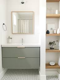 A Warmer And Single Sink Godmorgon Ikea Hackers Ikea by The Guest Bathroom Utilizes A Simple Ikea Vanity Custom Painted To