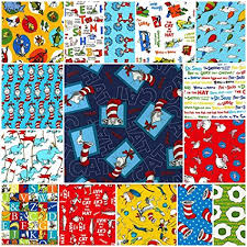 dr seuss assorted gift wrapping paper oop 15 dr seuss quarters robert kaufman