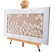 heart guest book personalised drop box hearts guest book alternative handmade days