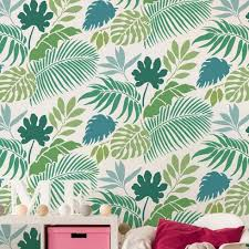 tropical dreams allover stencil tropical leaf wallpaper stencil