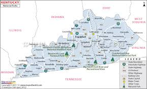 Kentucky natural attractions images National parks map jpg