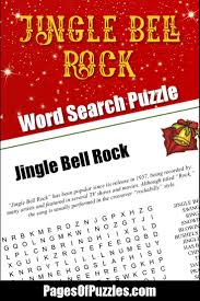jingle bell rock word search u2013 pages of puzzles