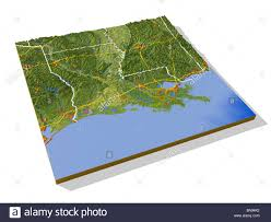 louisiana map areas louisiana 3d relief map with areas interstate highways and
