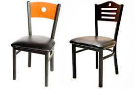 Wood And Metal Dining Chairs Oakstreetmfg Dining Chairs