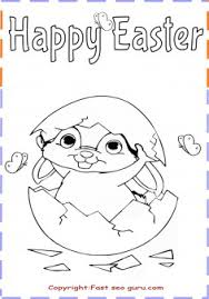 easter bunny hatching easter egg coloring pages printable