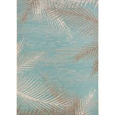 Aqua Outdoor Rug Coconut Creek Turquoise Ivory Beige Indoor Outdoor Rug
