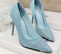 2015 Rhinestone Wedding Shoes Bridesmaid Shoes Bridal Pink Shoes