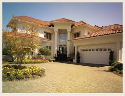 images of painted stucco houses with corbels and trim red tile
