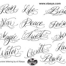 cursive letters tattoos tattoo collections