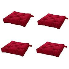amazon com dream home set of 4 indoor chair pads inches square