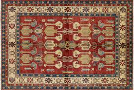 Red Tribal Rug Tribal Style Geometric Red 7 U0027x9 U0027 Supre Kazak Hand Knotted Wool