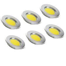 Wohnzimmerlampe Flach Yu Yang Gala Chrom 6er Set Neutralweiß Ultra Flach Led