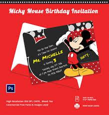 Free Halloween Birthday Party Invitation Templates 20 Mickey Mouse Invitation Template Free U0026 Premium Templates