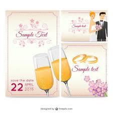 carte mariage gratuite carte de mariage vecteur de voeux télécharger des vecteurs