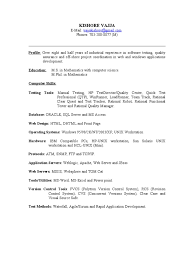 Etl Tester Resume Sample by Bunch Ideas Of Sample Resume Of Software Tester With Format