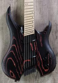 fanned fret 6 string bass legator ghfb6 ghost bolt on fanned fret 6 string electric guitar