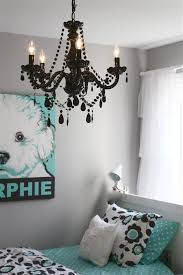 cute bedroom decoration using black crystal room