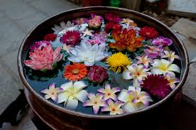 Floating Flowers Floating Flower Decorations Rangoli Designs Pooja Room And