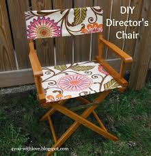 The Directors Chair On The Set 4 You With Love Diy Director U0027s Chair Tutorial On Make A New
