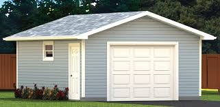 22x22 2 Car 2 Door Detached Garage Plans by Garage Plans Blue Prints