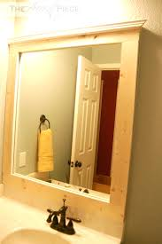 Framed Bathroom Mirror Framed Bathroom Mirror Crazy Wonderful Amazing Diy Birdcages