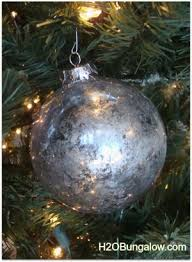 Glass Christmas Tree Ornament - diy mercury glass christmas tree ornament h20bungalow