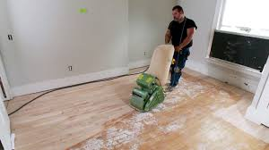 Where To Start Laying Laminate Flooring In A Room How To Sand A Hardwood Floor How Tos Diy